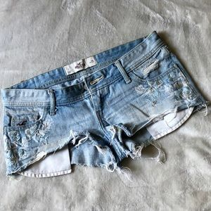 Low rise Hollister Jean Shorts